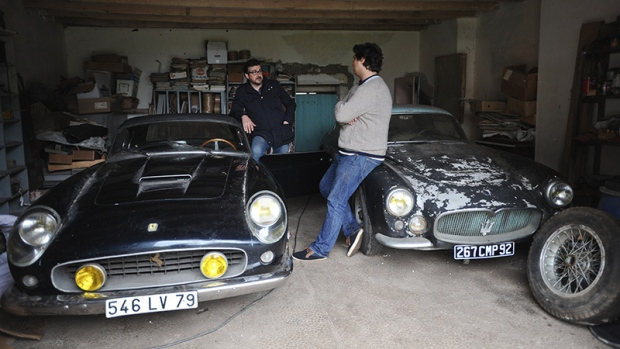 forgotten treasure of rare cars found in french village. Black Bedroom Furniture Sets. Home Design Ideas
