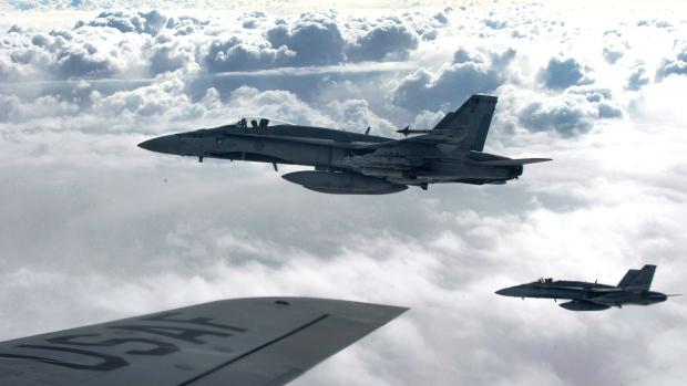 CF-18s over Iraq