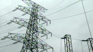 Power lines are pictured in this file photo. (CTV)