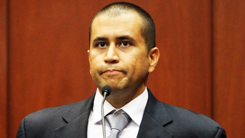 George Zimmerman appears during a bond hearing in Sanford, Fla., on Friday, April 20, 2012. (Orlando Sentinel / Gary W. Green)
