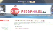 The website is intended to provide resources for parents to protect children from sexual predators.