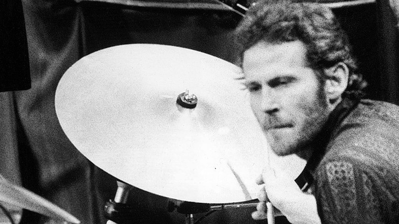 Levon Helm, of The Band, plays drums at the band's final live performance at Winterland Auditorium in San Francisco on Nov. 27, 1976. Helm, who was in the final stages of his battle with cancer, died Thursday, April 19, 2012 in New York. He was 71.  (AP/ John Storey)