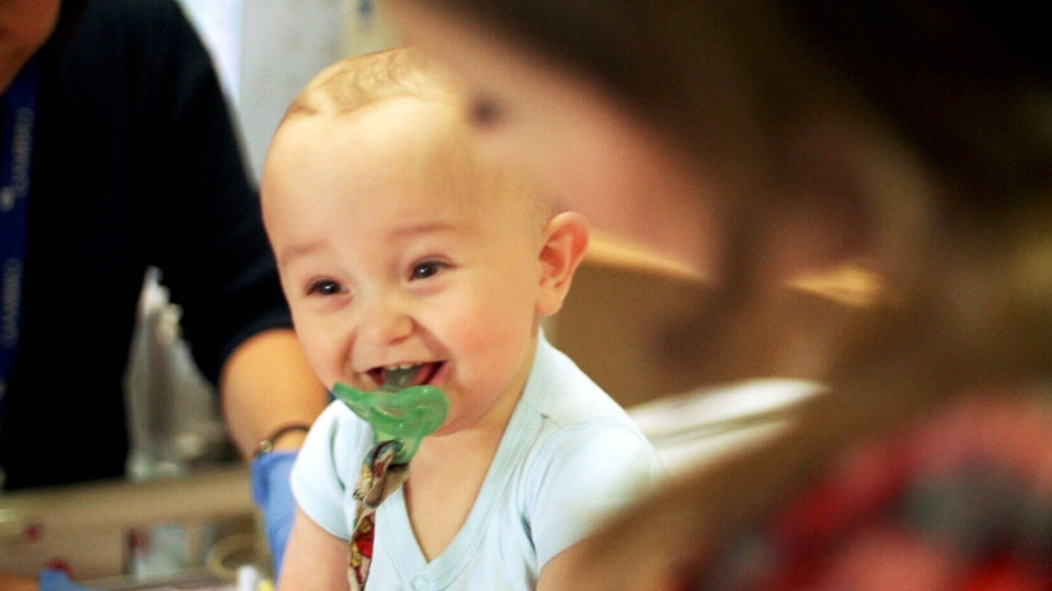 Taylum Lamoureux in Toronto's Sick Kids Hospital