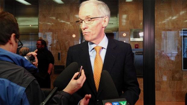 Steve Ashton speaks on his plan to seek the Manitoba NDP leadership on Dec. 23, 2014.