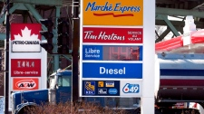 Gas prices are seen in Montreal on February 28, 2012. (Ryan Remiorz / THE CANADIAN PRESS)