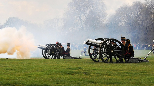 The King's Troop Royal Horse Artillery are firing a 41 gun salute to mark Queen Elizabeth II's 86th birthday