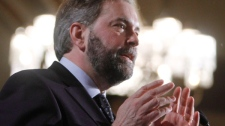 NDP Leader Thomas Mulcair addresses the Economic Club of Canada in Ottawa, Thursday April 5, 2012 (Fred Chartrand / THE CANADIAN PRESS)