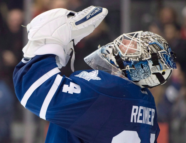 Image result for hockey player praying james reimer