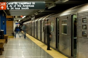 A subway line is shown in New York City. (Natalia Bratslavsky / Shutterstock.com)