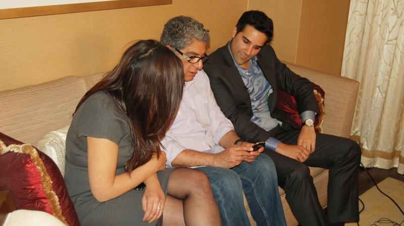 Deepak Chopra speaks with CTV National News correspondent Omar Sachedina. (CTV News)