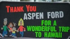 Hawaii Alberta trip sign