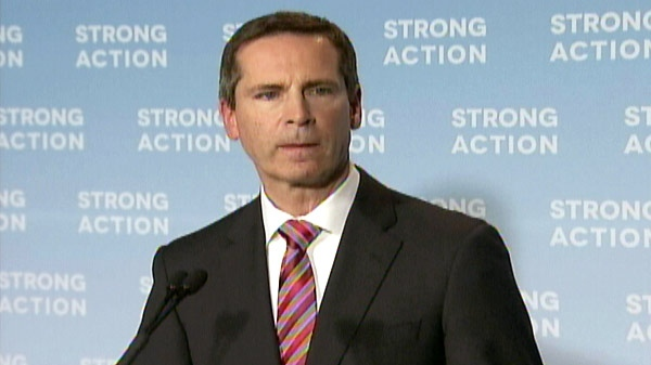 Ontario Premier Dalton McGuinty speaks at a press conference about on Monday, April 23, 2012.