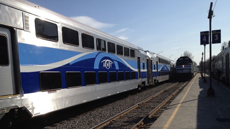 The AMT says 97 per cent of its trains are on time. (CTV Montreal/Jean-Luc Boulch)