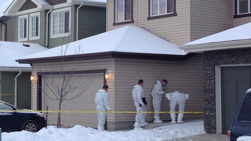 EPS investigators at a north side Edmonton home early Tuesday, December 30.