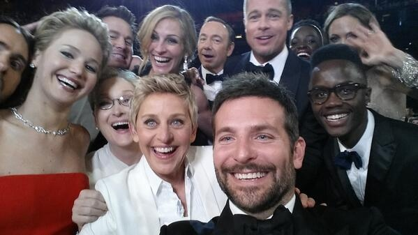 This super celeb selfie – or should we say 'usie' - taken by Bradley Cooper at the Academy Awards in March caused a frenzy online.