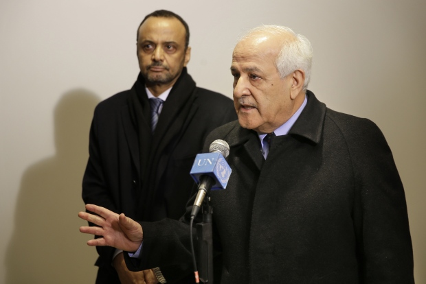 Palestinian ambassador Riyad Mansour