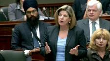 NDP Leader Andrea Horwath speaks in Toronto, Tuesday, April 24, 2012.