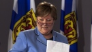Nova Scotia Health Minister Maureen MacDonald is seen at a news conference in Halifax on Thursday, March 1, 2012. (THE CANADIAN PRESS/Andrew Vaughan)