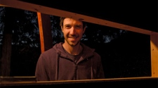 Joel Allen, shown here, built this tree house in a remote area of Whistler, B.C.