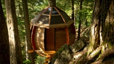 Joel Allen  built this tree house in a remote area of Whistler, B.C. (thehelmloft.com)