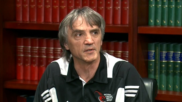 Bebe Zoricic speaks about his son's death in Toronto, Wednesday, April 25, 2012.