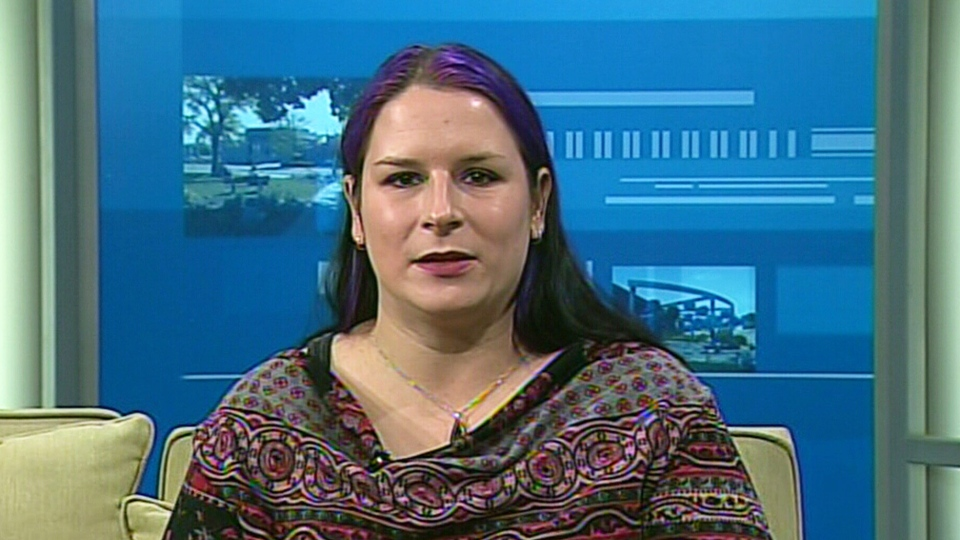 Melanie Baker, co-organizer of the Voices Carry concert, appears on Canada AM on Friday, Jan. 2, 2015.