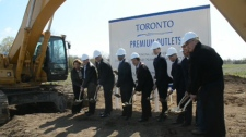 Investors broke ground on Canada's first U.S.-style outlet mall on Wednesday, April 25, 2012.