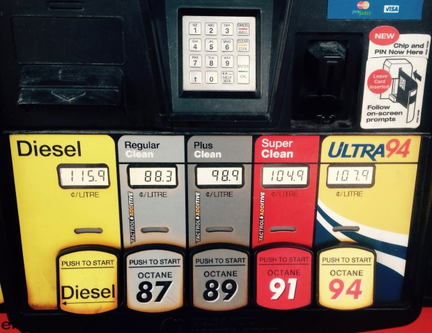 the gas prices in canada Gasoline prices for canadian drivers have been on a near-constant increase for the past year, now topping $130/litre on average.