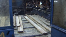 Wood is processed at a B.C. sawmill in this file image. (CTV)