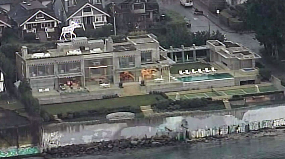 A waterfront property on Vancouver's Point Grey Road is worth an eye-popping $57-million, according to B.C. Assessment. Jan. 2, 2015. (CTV's Chopper 9)