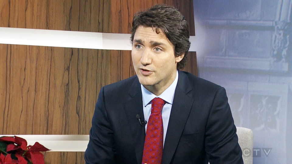 Liberal Leader Justin Trudeau appears on CTV's Question Period, Sunday, Jan. 4, 2014.