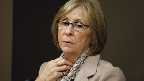 Sheila Fynes attends a Military Police Complaints Commission hearing into the suicide of her son, Cpt. Stuart Langridge, in Ottawa, Thursday, April 26, 2012. (Adrian Wyld / THE CANADIAN PRESS)