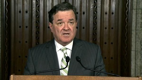 Finance Minister Jim Flaherty speaks in Ottawa, Thursday, April 26, 2012.