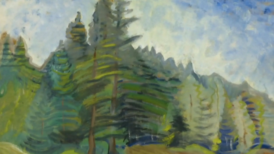 A painting from the TDSB collection is shown.