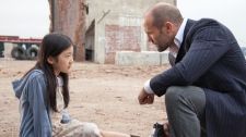 Catherine Chan and Jason Statham in a scene from Alliance Atlantis' 'Safe.'