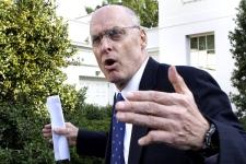 Treasury Secretary Henry Paulson speaks to the media about the financial rescue legislation, on Monday, Sept. 29, 2008. (AP / Ron Edmonds)