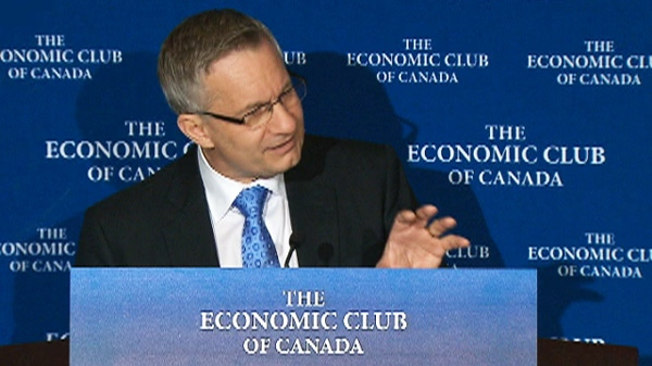International Trade Minister Ed Fast speaks to the Economic Club of Canada on Friday, April 27, 2012.
