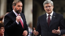 Harper and Mulcair
