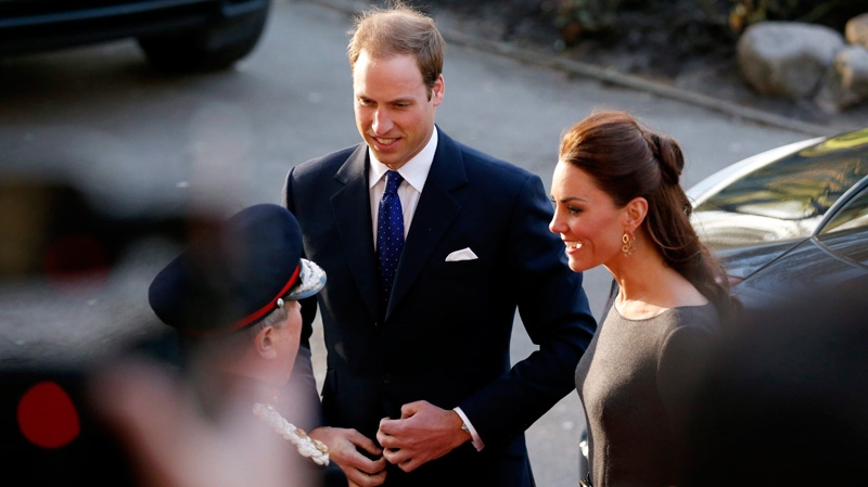 Britain's Kate the Duchess of Cambridge and her husband Prince William arrive for a fund raising reception at the Imperial War Museum in London, Thursday, April 26, 2012. (AP / Matt Dunham)