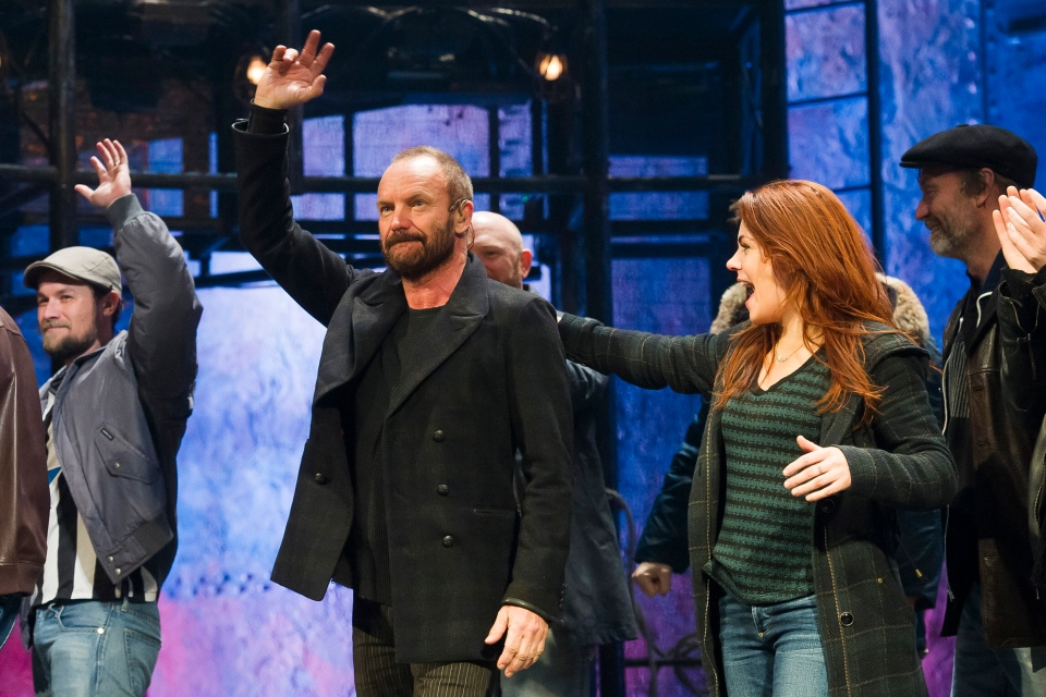 "In this Tuesday, Dec. 9, 2014, file photo, Sting appears at the curtain call following his debut performance in Broadway's ""The Last Ship,"" in New York. (Photo by Charles Sykes/Invision/AP, File)"