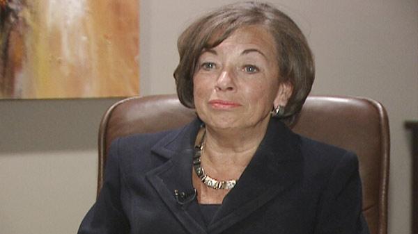 Kitchener-Waterloo Conservative MPP Elizabeth Witmer speaks with CTV News in Kitchener, Ont. on Friday, April 27, 2012.