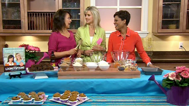 Janet and Greta Podleski made a gluten-free brownie recipe from their bestselling cookbook, �The Looneyspoons Collection,' on Canada AM, April 27, 2012.