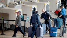 Airport security, evacuation, baggage, airport, minneapolis, water filter,