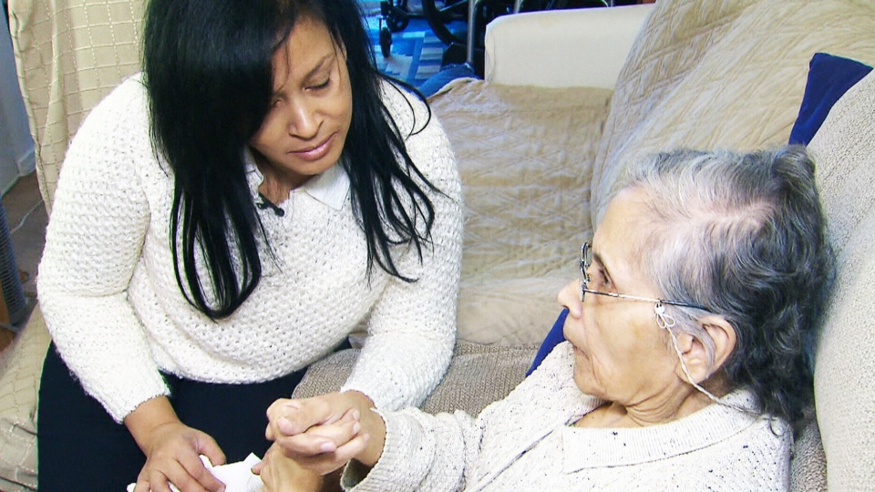 Caron Leid of Brompton, Ont., has been the caregiver for her mother since she was diagnosed the Alzheimer's in 2000.