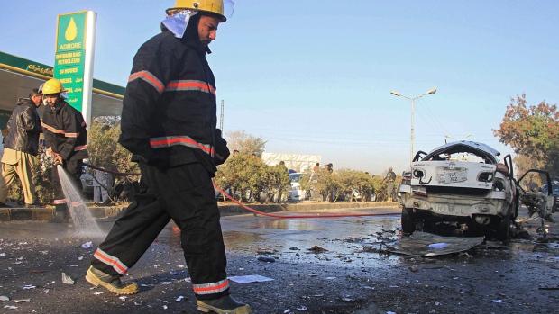 Blast site in Jalalabad, Afghanistan