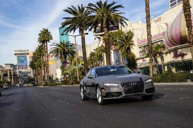 Audi A7 driverless car CES