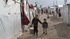 Syrian refugee camp in Deir Zannoun, Lebabon