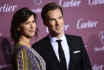 Sophie Hunter, left, and Benedict Cumberbatch arrive at the 26th annual Palm Springs International Film Festival Awards Gala on Saturday, Jan. 3, 2015, in Palm Springs, Calif. (Photo by Jordan Strauss/Invision/AP)