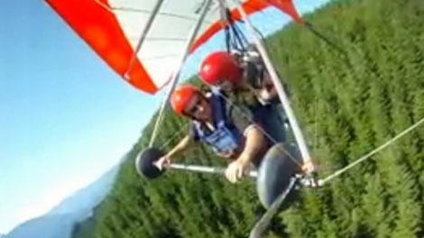 Hang glider plunges to her death as boyfriend videotapes