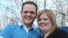 Mark, 34, and Courtney Penney, 28, in an undated photo provided by a family friend. Supplied.